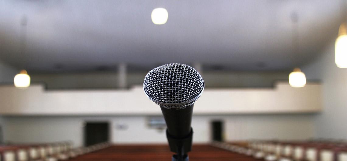 religious auditorium podium